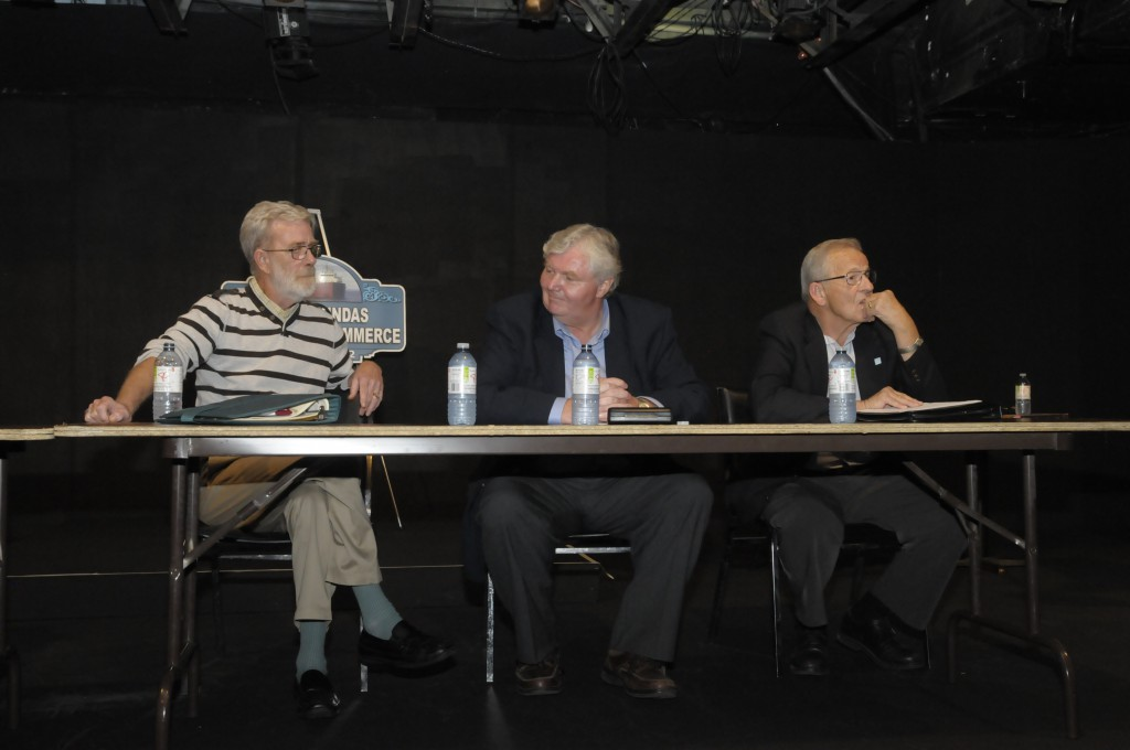 South Dundas candidates for deputy mayor are (from left) Carl McIntyre, Del Jones and Jim Locke. (Cornwall Newswatch)