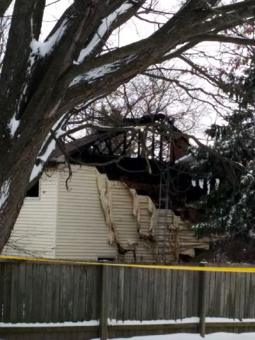 The Ontario Fire Marshal and coroner were on the scene of this deadly house fire on Sesame St. in Winchester on Dec. 10, 2014. (Photo/Warren Fitzpatrick)