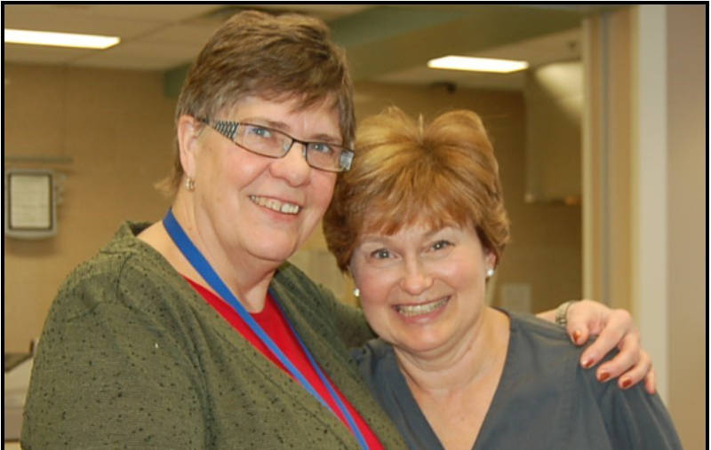 Linda Johnson and Gwen Coleman Retiring Nurses WDMH-Apr0215-Edited