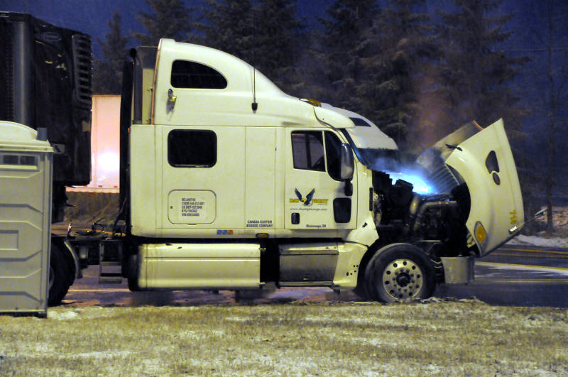 Truck Fire At Lancaster Weigh Scales  U2013 Cornwall Newswatch