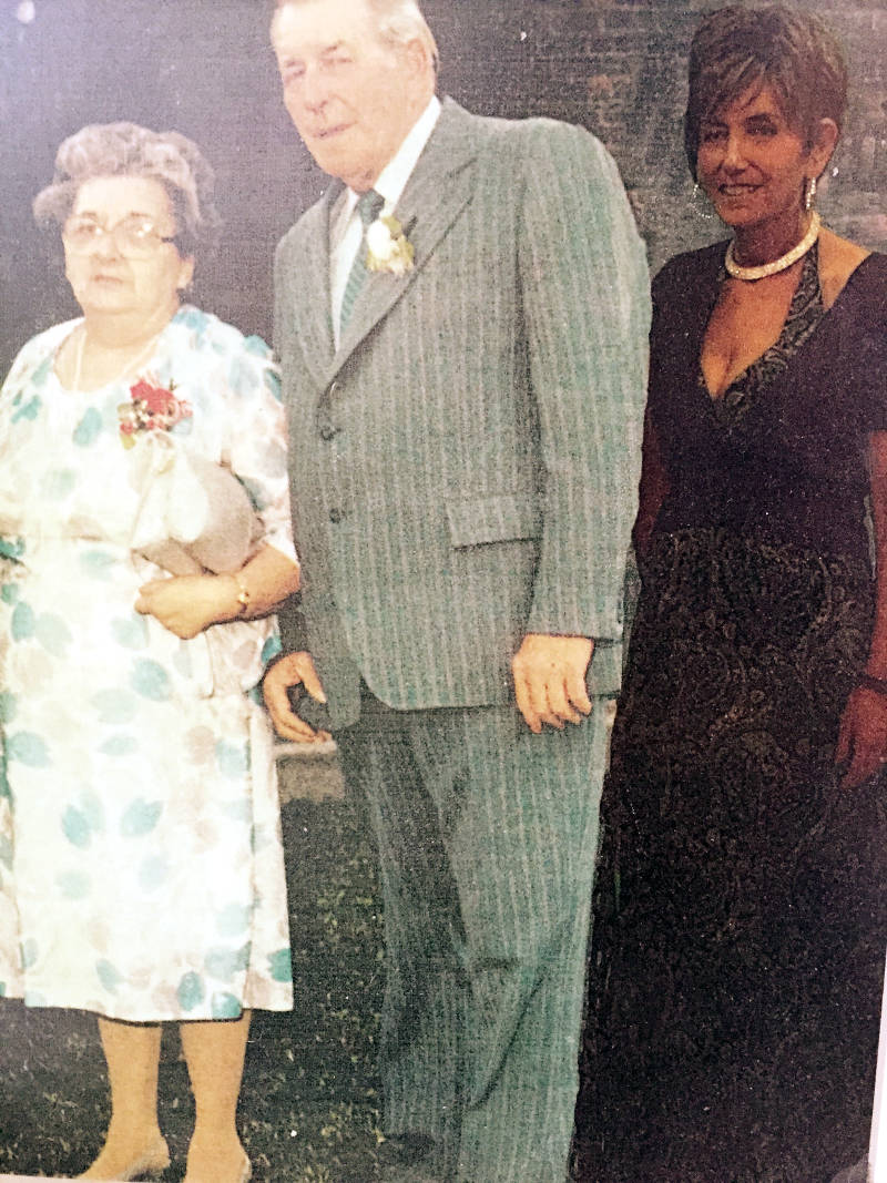 A picture believed to be from the late 1940's or early 1950's shows Sara Lauzon's grandparents, Rolande Seguin and Archie Latour. The photograph has been digitally altered to add Sara's aunt, Joan Dingwall (nee Latour), who lost her battle with cancer on July 20, 2012. (Photo/Supplied)