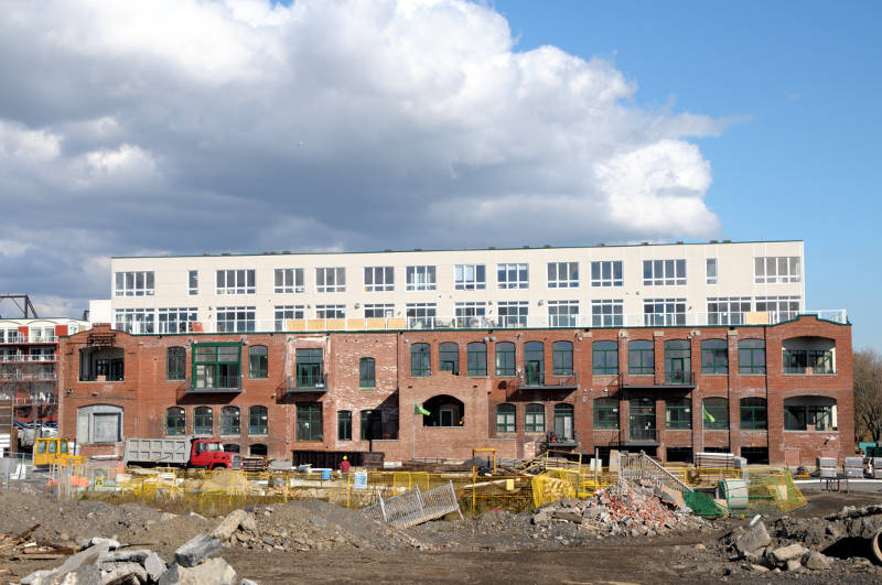 The Edison building of the Cotton Mill Lofts development on Oct. 22, 2015 as seen looking east from Edward Street. (Newswatch Group/Bill Kingston)