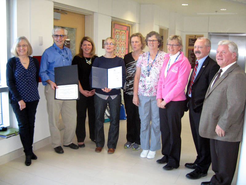 Breast Care Team Award WDMH Nov0415 Edited