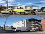 Two Cornwall apartment fires on First Street East (top) on Monday, Aug 22, 2016 and on Montreal Road (bottom) on Saturday, Aug 20, 2016 were both caused by smoking, investigators have determined. (Newswatch Group/Bill Kingston, File)