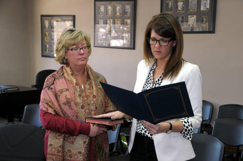 Martha Woods Sworn In Police Board Feb2619 E